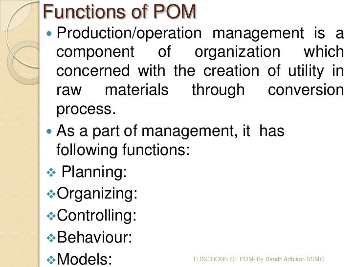 functions of production and operation management pdf
