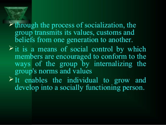 functions of socialization