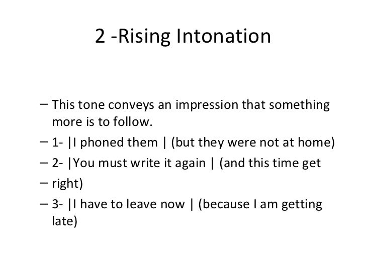 Functions Of Stress And Intonation Pres