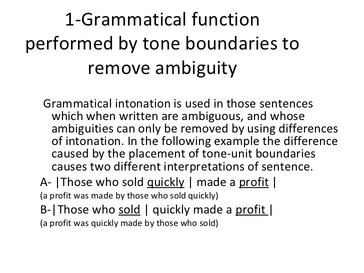 function of intonation The role of intonation in emotional expressions tanja b‰nziger , klaus r scherer department of psychology, fapse, university of geneva, 40 bv du pont -d'arve, 1205 gene`ve, switzerland received 28 august 2004 received in revised form 10 january 2005 accepted 4 february 2005 abstract the influence of.