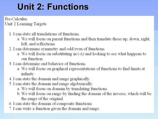 Unit 2: FunctionsUnit 2: Functions