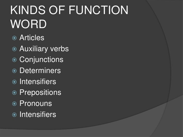 function words content words
