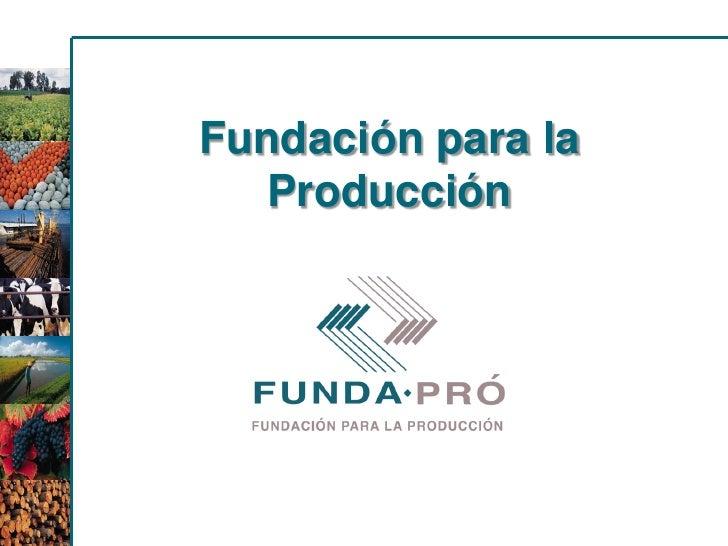 Fundación para la  Producción