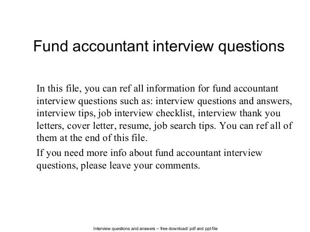 Accounts Interview Questions Pdf