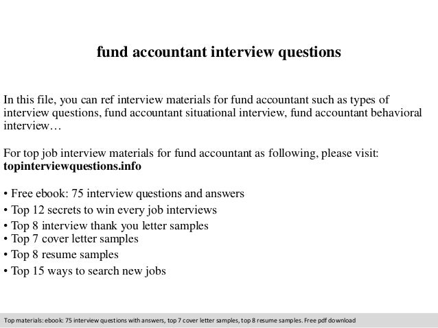 Fund Accountant Interview Questions In This File, You Can Ref Interview  Materials For Fund Accountant ...