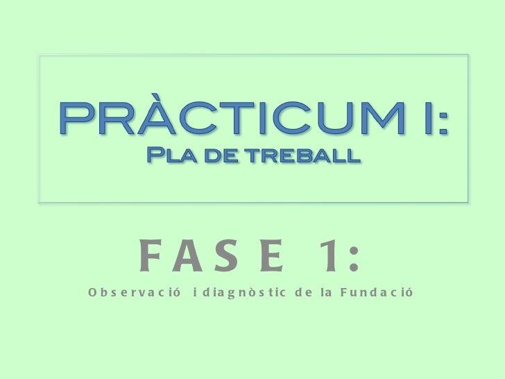 FASE 1: Observació  i diagnòstic de la Fundació