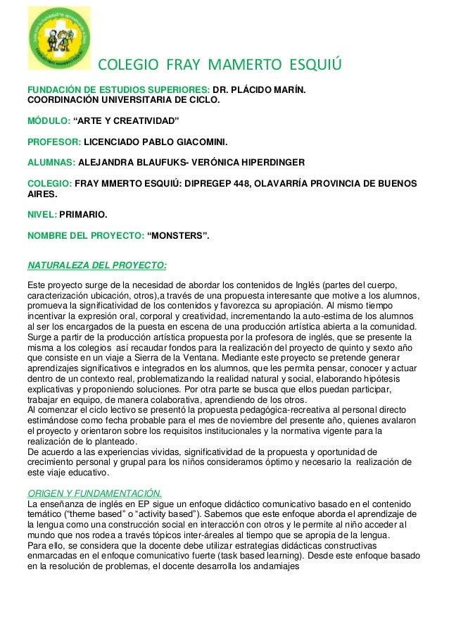 COLEGIO FRAY MAMERTO ESQUIÚFUNDACIÓN DE ESTUDIOS SUPERIORES: DR. PLÁCIDO MARÍN.COORDINACIÓN UNIVERSITARIA DE CICLO.MÓDULO:...