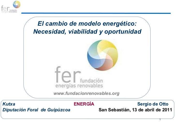 Actividades a programar El cambio de modelo energético: Necesidad, viabilidad y oportunidad www.fundacionrenovables.org  K...