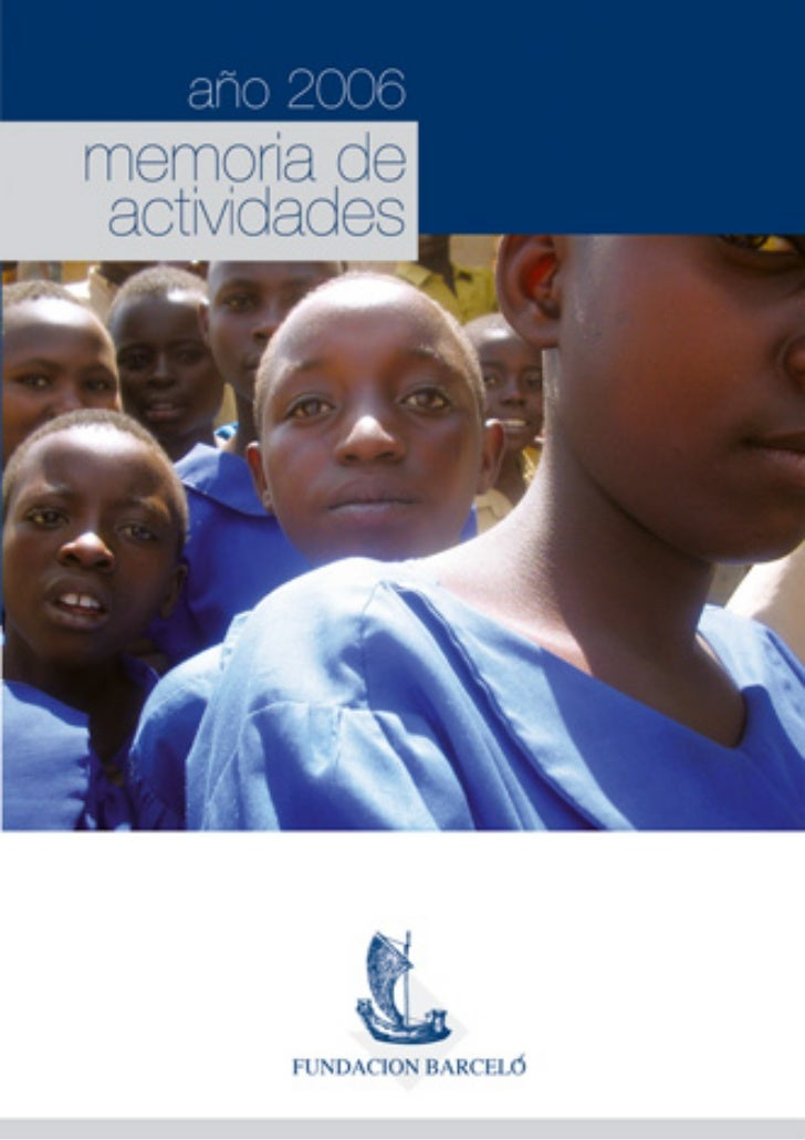 Fundacio Barceló | Memoria de Actividades