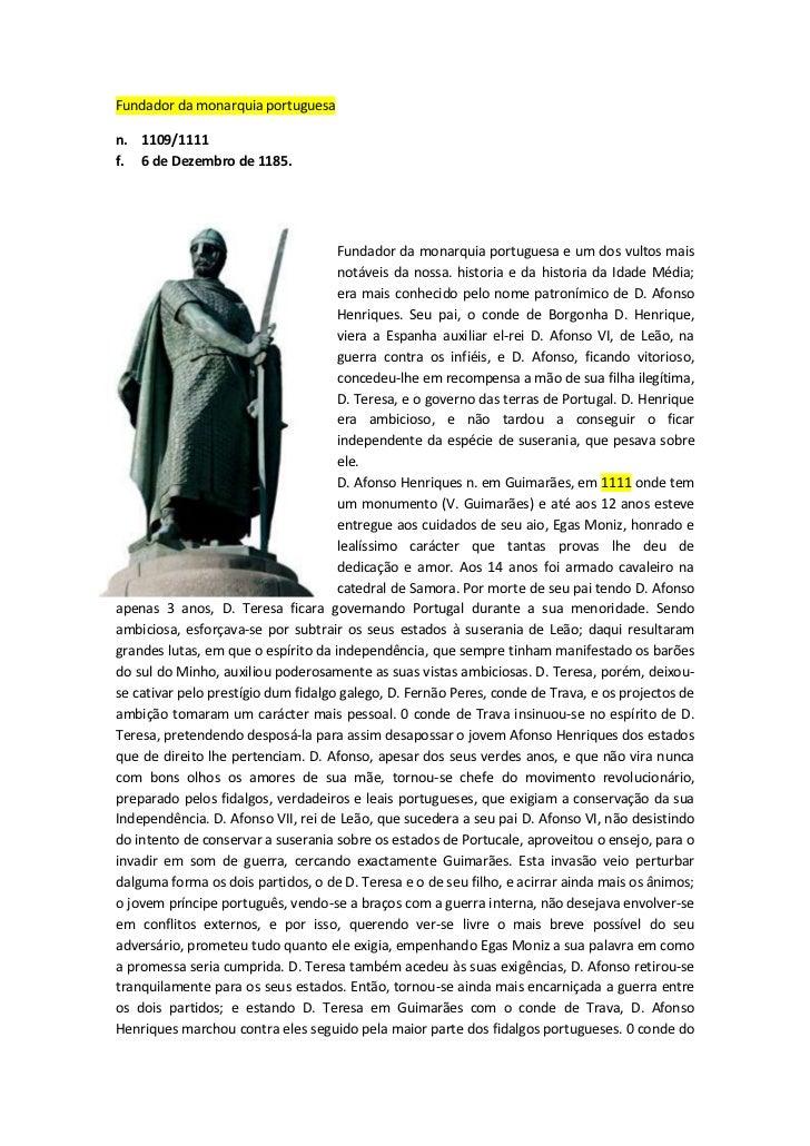 Fundador da monarquia portuguesa<br />n.  1109/1111f.  6 de Dezembro de 1185. <br />-24193562230 <br />Fundador da mo...
