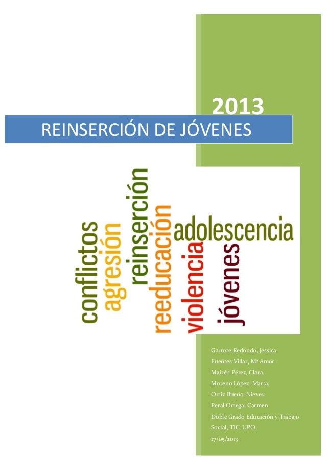 2013 Garrote Redondo, Jessica.               Fuentes Villar, Mª Amor....
