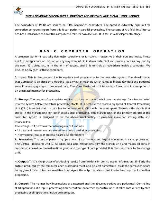NOTES OF BASIC COMPUTER COURSES EBOOK