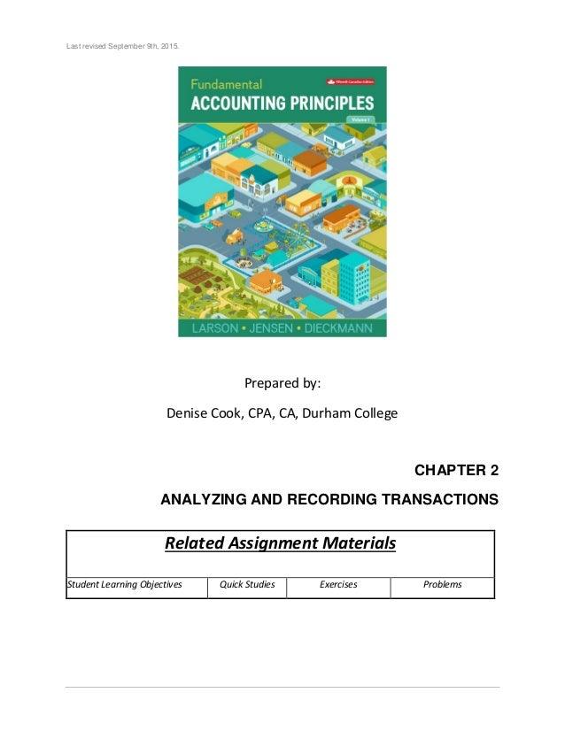 Volume 1 Fundamental Accounting Principles