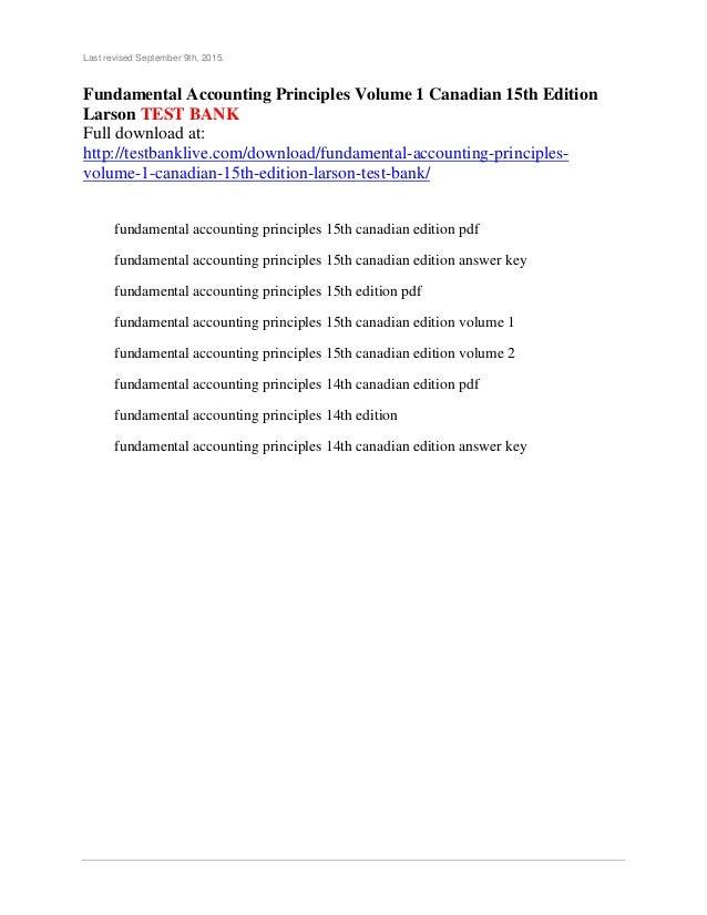 Fundamental Accounting Principles Volume 1 Canadian 15th border=