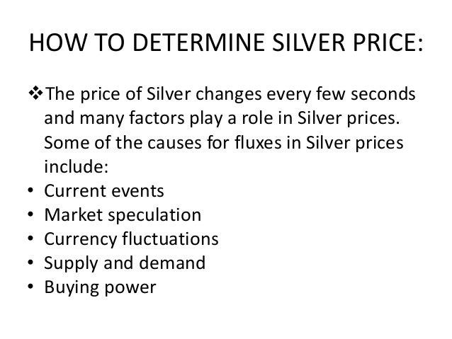 Critical Factors that will Impact Silver