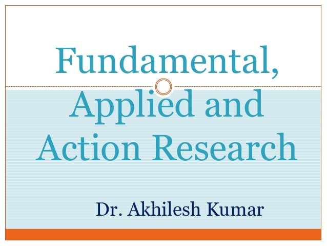 distinguish between basic and applied research