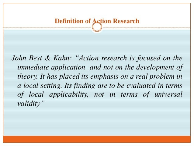 importance of applied research