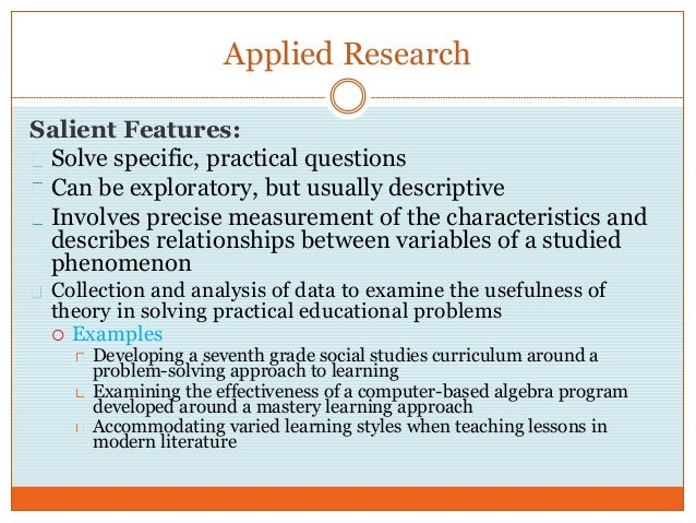 pure and applied research definition