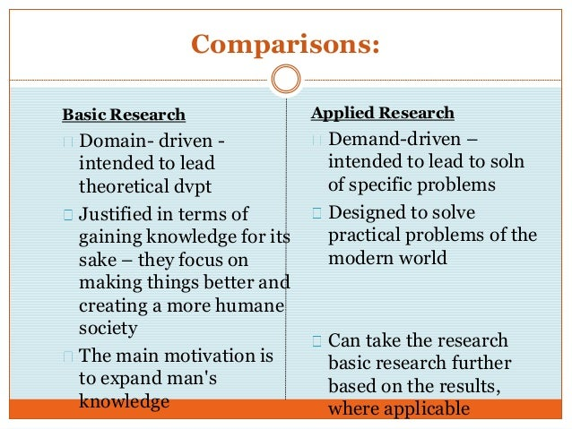 basic pure research Basic research also called pure or fundamental research, it is undertaken for increase in knowledge there is no direct benefit as it is a research for the sake of.