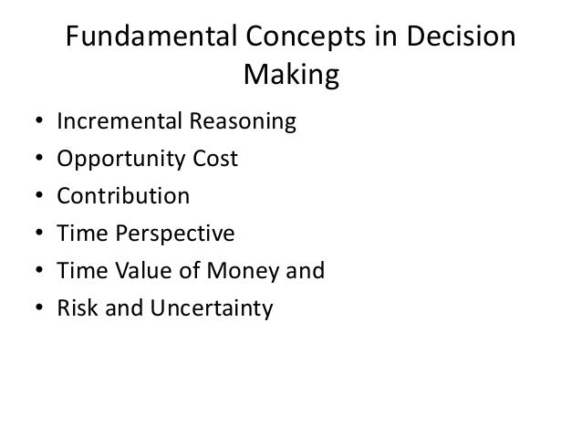 concepts of decision making Addressing ethics in decision making it is our intent to focus on the practical application of ethics in decision making we need to start by creating some clarifying distinctions to facilitate our purpose.