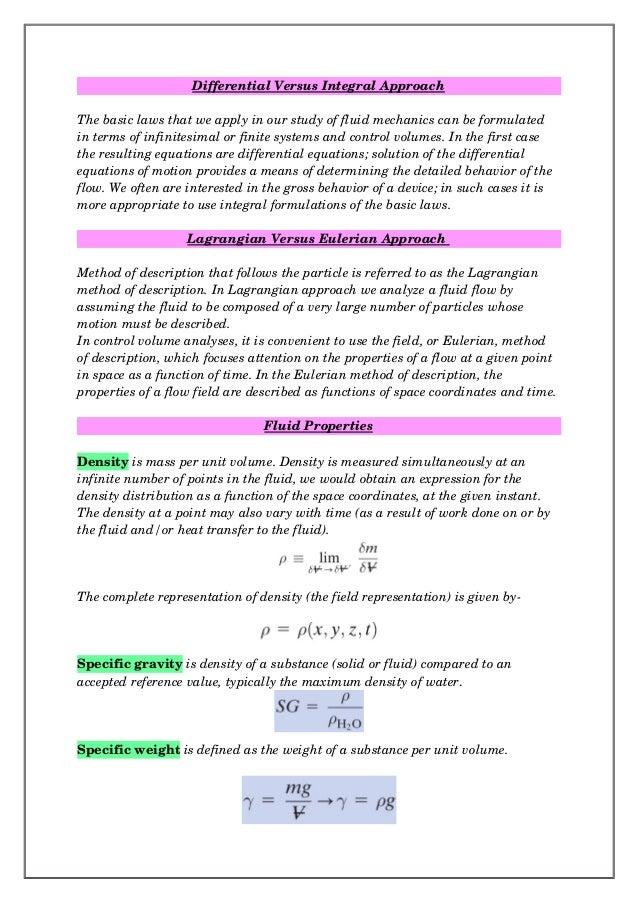 lagrangian and eulerian description of fluid flow pdf