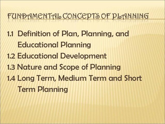 Fundamental Concepts of STRATEGIC PLANNING