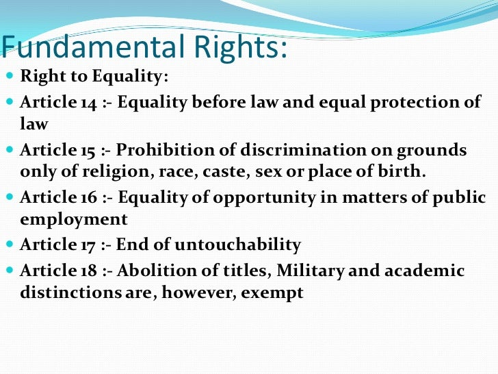 Essay on our fundamental rights and duties