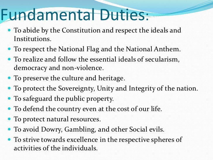 fundamental duties in constitution