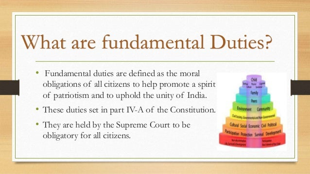Brief Notes on the Fundamental Duties of the Indian Constitution