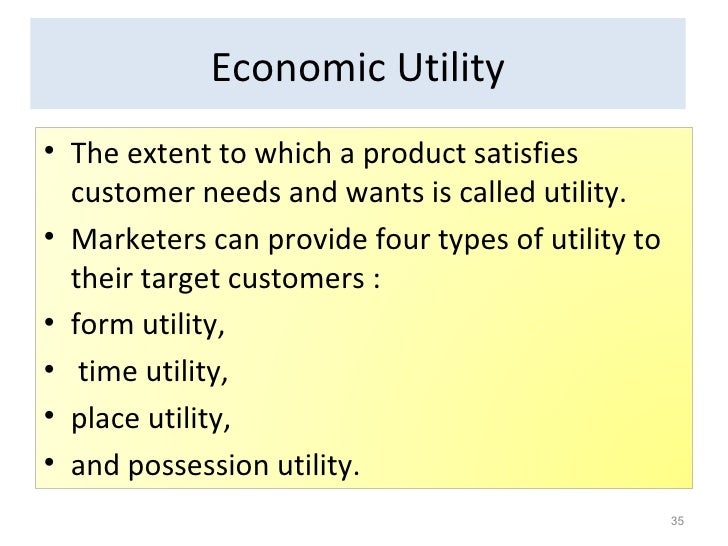 4 types of utility