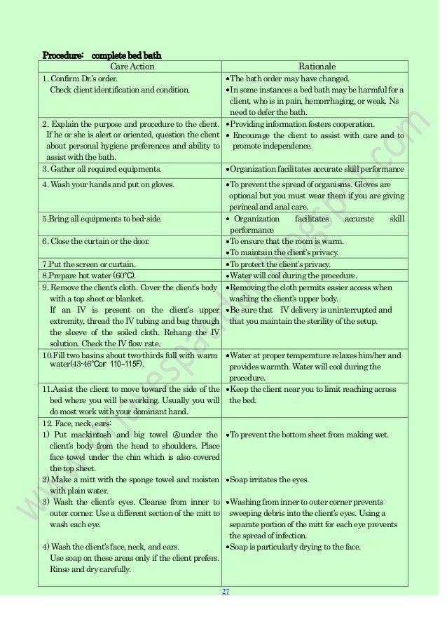 CNA Test  Partial Bed Bath   CNA Exam Cram nyu transfer supplement essays