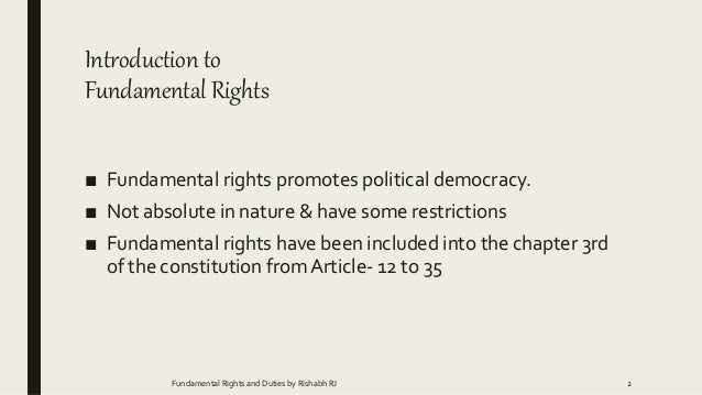 introduction of fundamental rights
