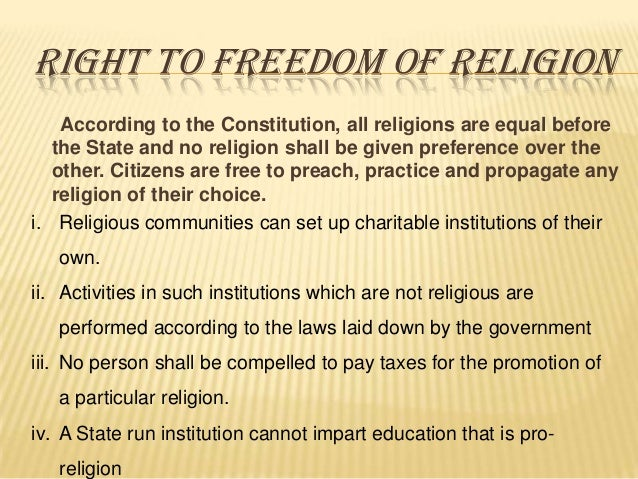 constitutional law freedom of religion Although many books on terrorism and religious extremism have been published in the years since 9/11, none of them written by western authors call for the curtailment.