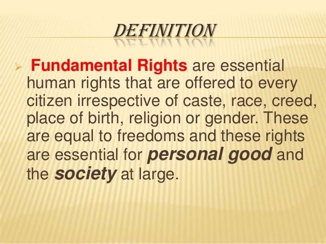 fundamental rights of n constitution