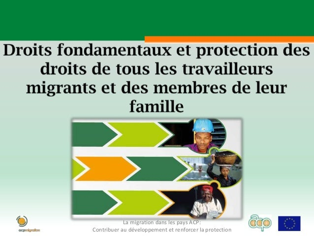 La migration dans les pays ACP:Contribuer au développement et renforcer la protection