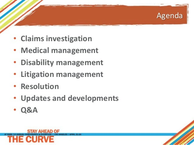 Fundamentals of Claims Management