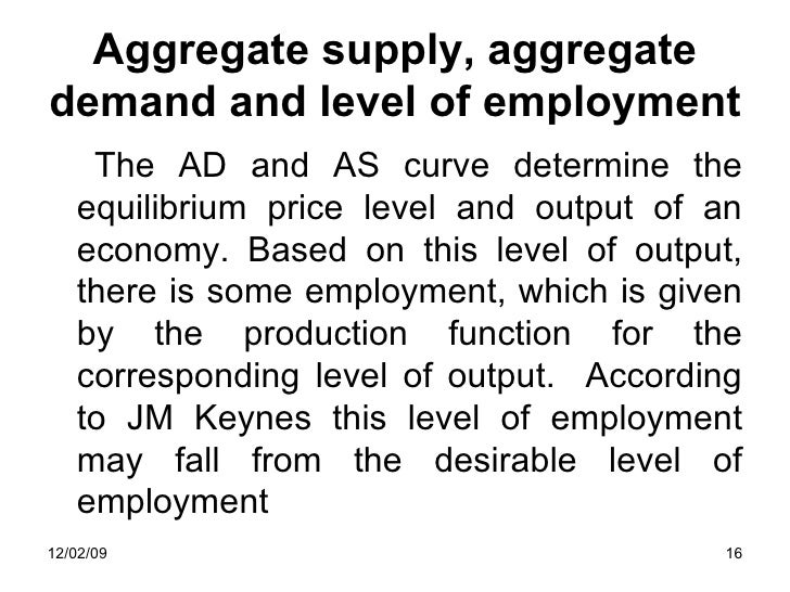 supply and demand and stationary aggregate Both aggregate demand and aggregate supply are depicted as curves, with the price level on the vertical axis and income and output on the horizontal axis.