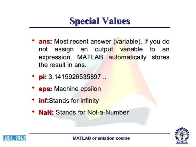Fundamentals of matlab programming