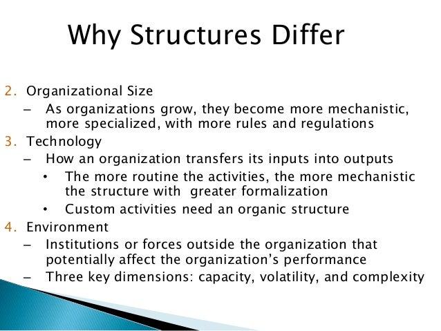 fundamentals of organizational structure