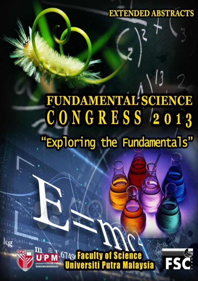 FUNDAMENTAL SCIENCE CONGRESS 2013 20th – 21st August 2013  0