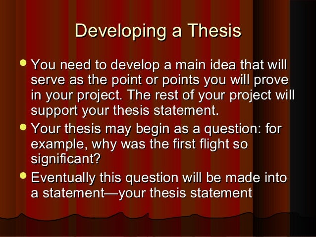 nhd thesis statement examples
