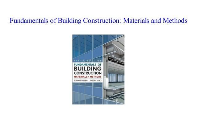 PDF] Fundamentals of Building Construction: Materials and