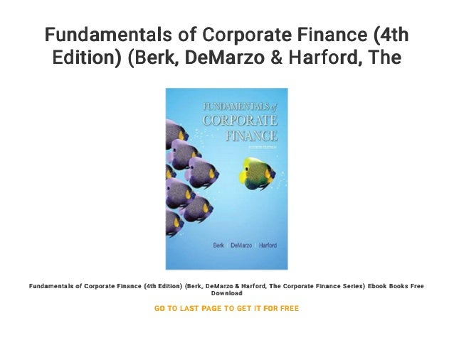Corporate Finance The Core Berk Demarzo Pdf