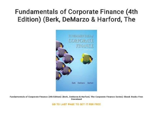 Corporate Finance The Core Berk Demarzo Pdf