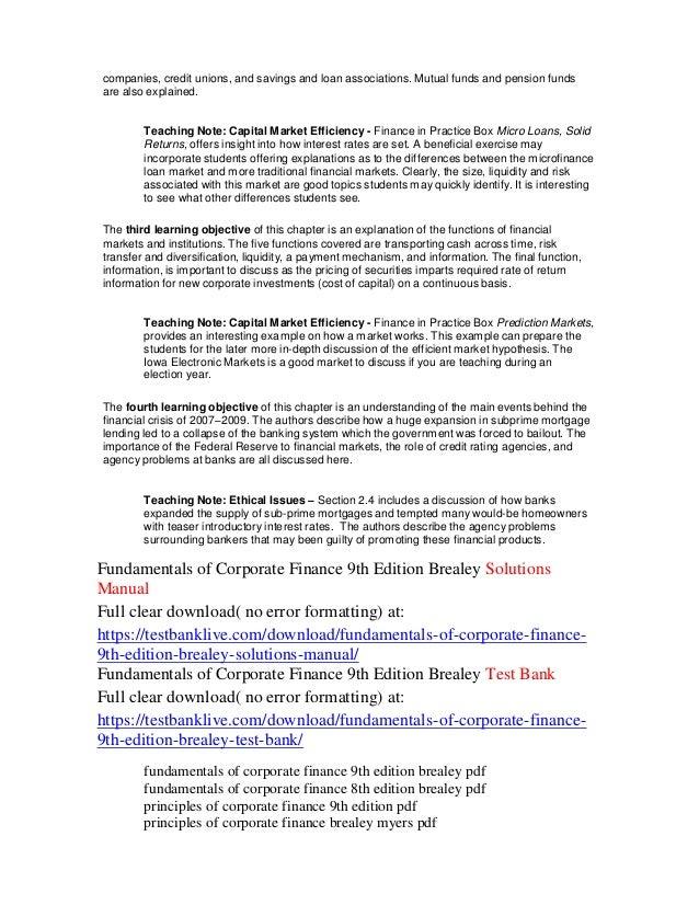 Corporate Finance 9th Edition Pdf