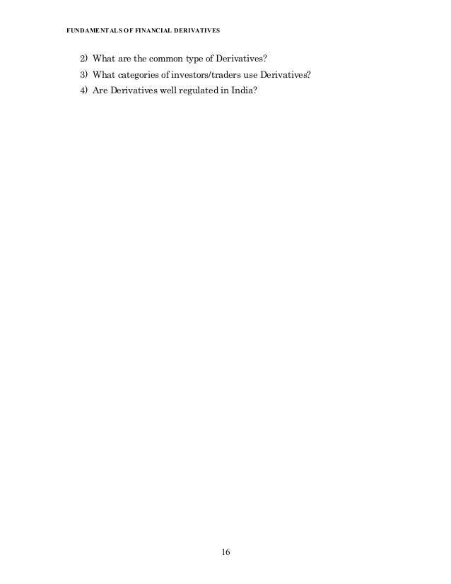 Fundamentals of financial derivatives nrp 19 ibookread PDF