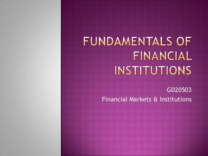 GD20503Financial Markets & Institutions