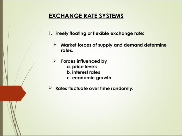 Advantages  No problems with international liquidity  Automatic correction in the balance of payment  Insulated from ex...
