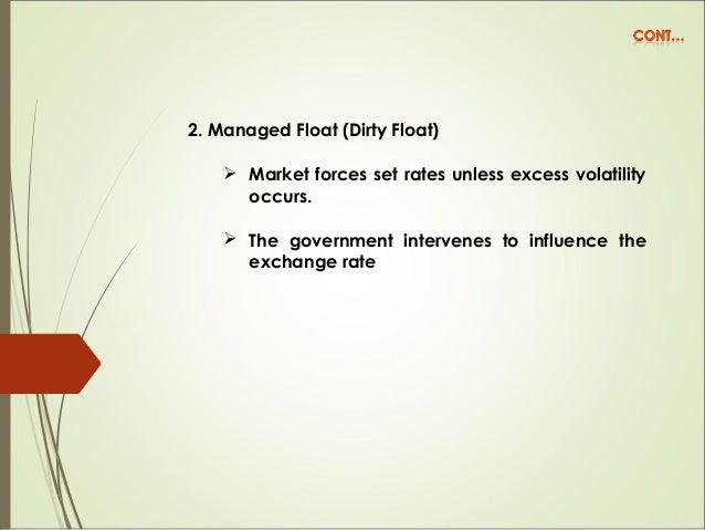 3. Target-Zone Arrangement  Central bank intervenes to set the exchange rate at the preannounced price, by selling or buy...