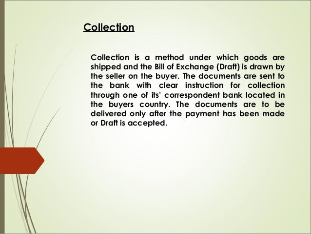 Documentary Credit Documentary Credit is the classic form of international trade payment. This method substantially reduce...